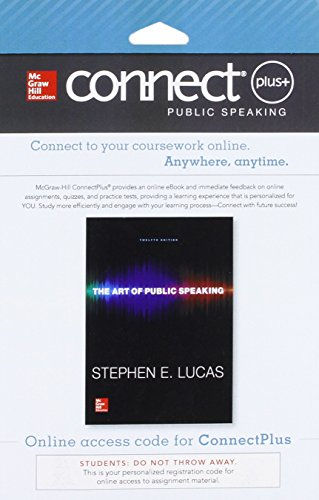 9780077797553: Connect Access Card for The Art of Public Speaking