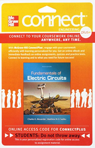 9780077800772: Connect Plus Engineering 1 Semester Access Card for Fundamentals of Electric Circuits