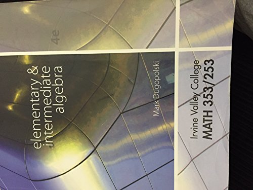 9780077801175: Elementary & Intermediate Algebra 4th Edition (Irvine Valley College Math 353/253)