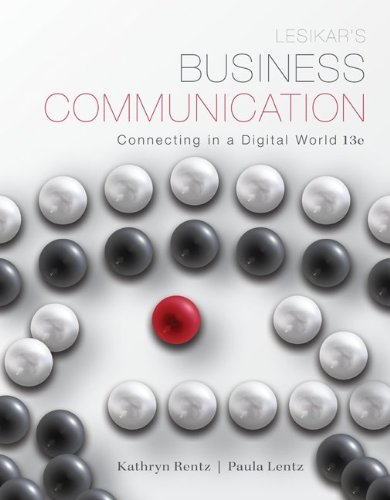 9780077801939: Lesikar's Business Communication: Connecting in a Digital World with ConnectPlus