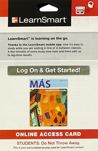 9780077806521: LearnSmart Intermediate Spanish 720 day Access Card for MÁS