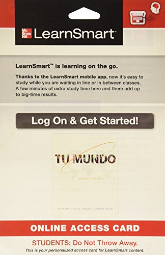 9780077806552: LearnSmart Introductory Spanish 720 day Access Card for Tu mundo