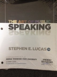 9780077806675: The Art of Public Speaking (Custom Edition for Middle Tennessee State University)