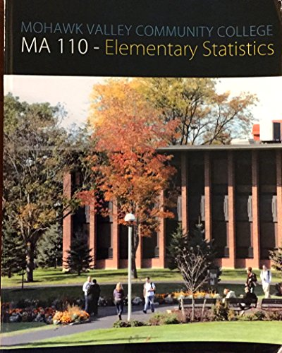 9780077808112: Mohawk Valley Community College Ma 110-elementart Statistics