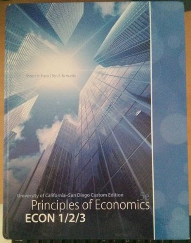 9780077809843: Principles of Economics, 5th Edition UCSD Custom Edition
