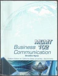 9780077810726: Business Communication Mgmt102