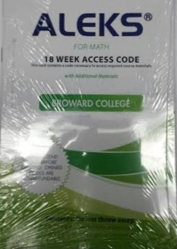 9780077812997: Aleks for Math 18 Weeks Student Access Code for Broward College