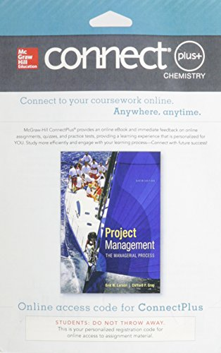 9780077818395: Connect Plus Project Management with LearnSmart 1 Semester Access Card for Larson, Project Management, 6e