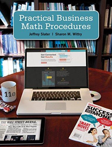 Practical Business Math Proceduares Brief w/Handbook, DVD + Connect Plus: Slater, Jeffrey; ...