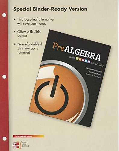 9780077823375: Loose Leaf Version Prealgebra with P.O.W.E.R. Learning
