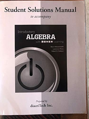 9780077825317: Introductory Algebra Student Solutions