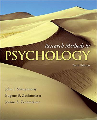 9780077825362: Research Methods in Psychology (B&B Psychology)