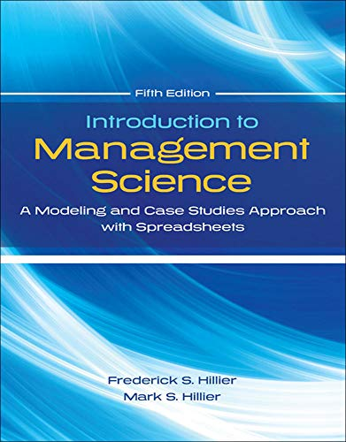 Introduction to Management Science with Student CD: Frederick Hillier