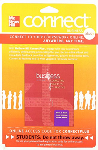 9780077827960: Connect 1-Semester Access Card for Business