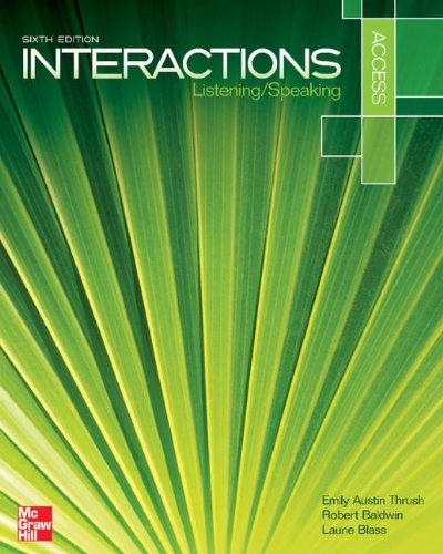 9780077829209: Interaction Access Listening/Speaking Student Book Plus Registration Code for Connect ESL