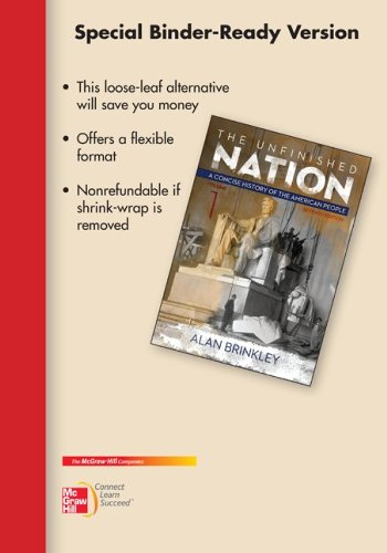 9780077830441: Looseleaf for Unfinished Nation: A Concise History, Vol I