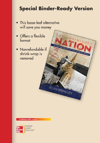 9780077830458: Looseleaf for Unfinished Nation: A Concise History, Vol II