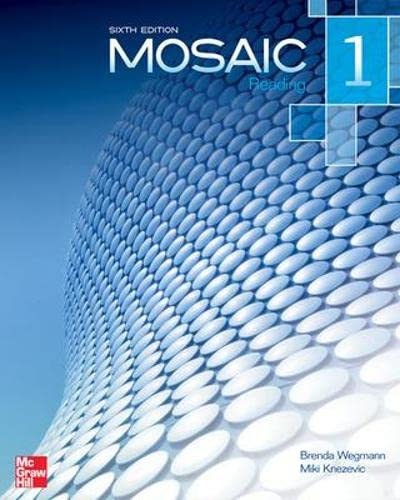9780077831035: Mosaic Level 1 Reading Student Book plus Registration Code for Connect ESL