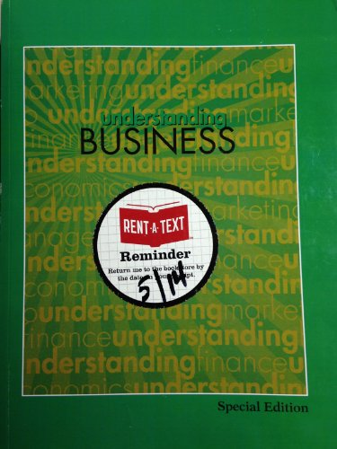 9780077831561: Understanding Business 10th Edition (Introduction to Business) Special Edition for Bergen Community College