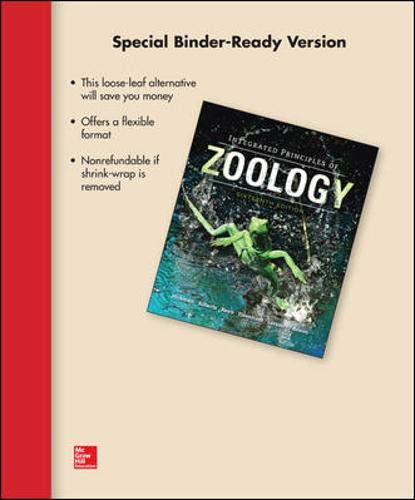 9780077832230: Loose Leaf for Integrated Principles of Zoology