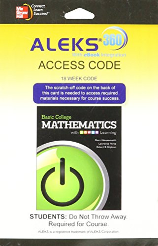 9780077834524: ALEKS 360 (18 Weeks) for Basic College Math with P.O.W.E.R. Learning