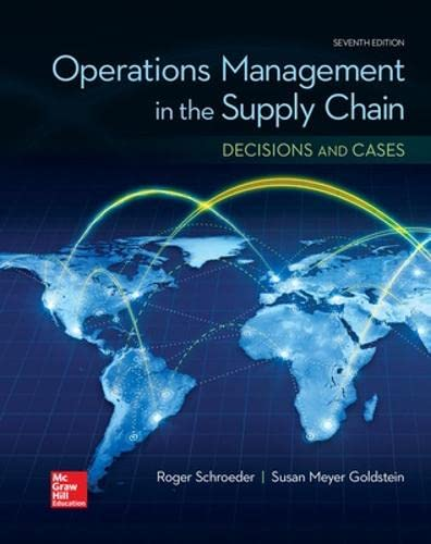 9780077835439: OPERATIONS MANAGEMENT IN THE SUPPLY CHAIN: DECISIONS & CASES (Mcgraw-hill Series Operations and Decision Sciences)