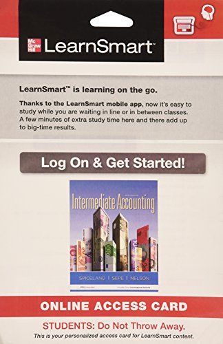 9780077836894: LearnsSmart Access Card for Intermediate Accounting