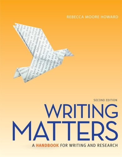 9780077840280: Writing Matters: A Handbook for Writing and Research (National Tabbed Edition)
