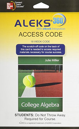 9780077841447: Aleks 360 Access Card (18 Weeks) for College Algebra