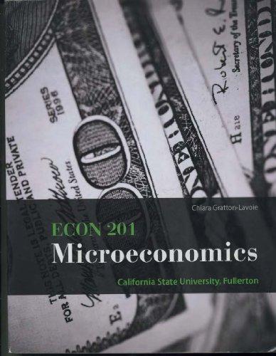 9780077841577: Econ 201 Microeconomics Csuf