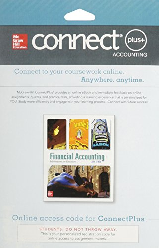 9780077844028: Connect Plus Accounting with LearnSmart 1-Semester Access Card for Financial Accounting: Information for Decisions