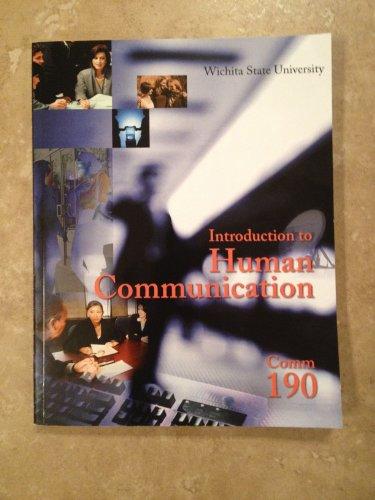 9780077846268: Introduction to Human Communication Wichita State University