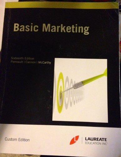 9780077846732: Basic Marketing   16th Edition   Custom Edition