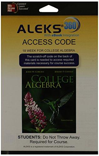 9780077847159: ALEKS 360  Access Card (18 weeks) for College Algebra