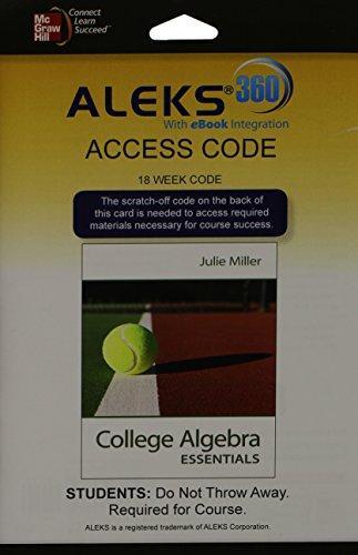 ALEKS 360 Access Card (18 weeks) for: Miller, Julie