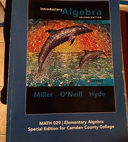 9780077860608: Introductory Algebra -Special Edition for Camden County College