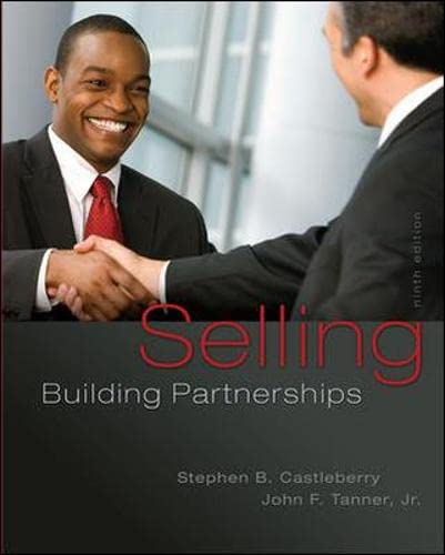 9780077861001: Selling: Building Partnerships (Irwin Marketing)