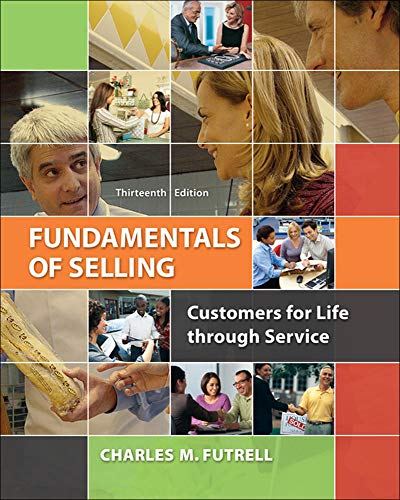 9780077861018: Fundamentals of Selling: Customers for Life through Service (Irwin Marketing)