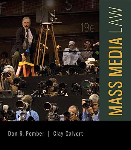9780077861421: Mass Media Law (B&B Journalism)