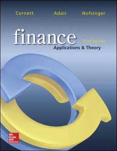Finance: Applications and Theory: Cornett, Marcia Millon,