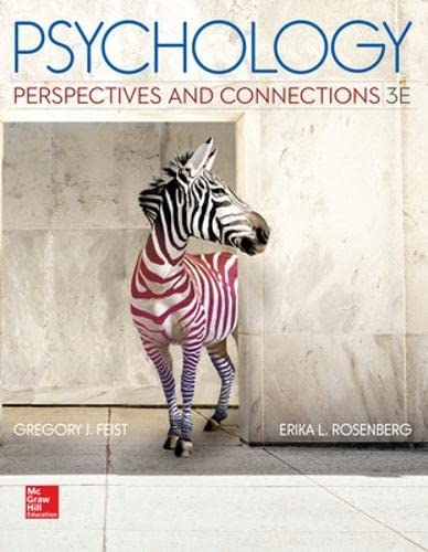9780077861872: Psychology: Perspectives and Connections, 3rd Edition