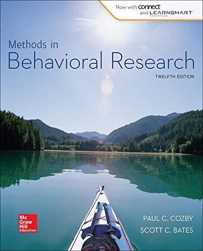 9780077861896: Methods in Behavioral Research