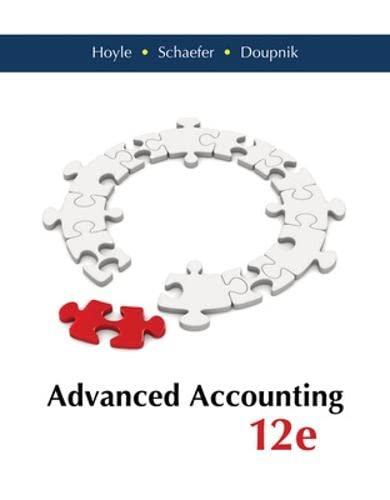 Advanced Accounting: Hoyle, Joe Ben,