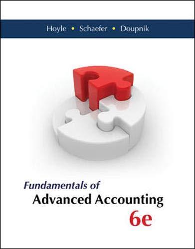 Fundamentals of Advanced Accounting: Hoyle, Joe Ben;