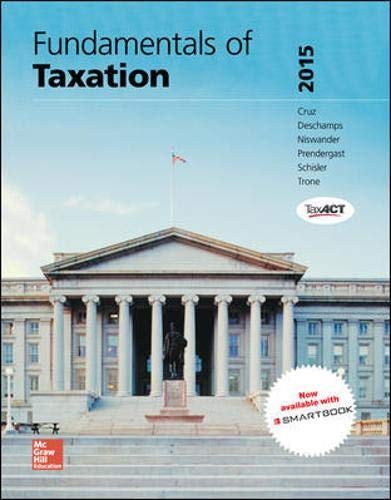 9780077862305: Fundamentals of Taxation 2015 Edition