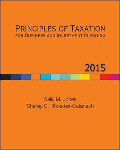 9780077862329: Principles of Taxation for Business and Investment Planning, 2015 Edition