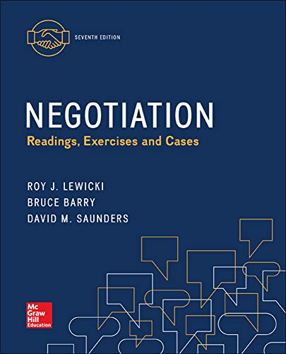 9780077862428: Negotiation: Readings, Exercises, and Cases