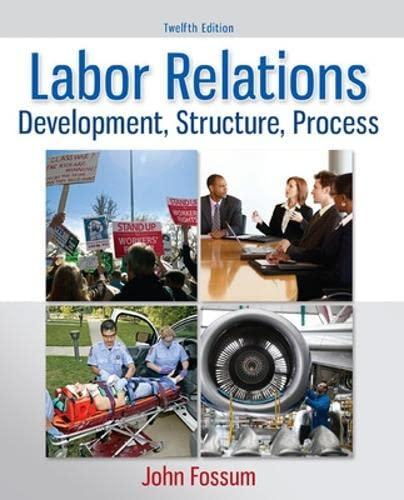 9780077862473: Labor Relations: Development, Structure, Process