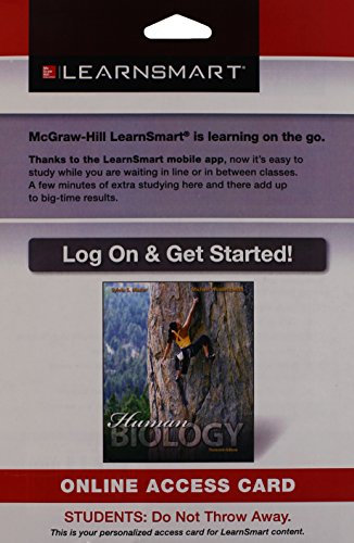 9780077862671: LearnSmart Standalone Access Card for Mader Human Biology 13e