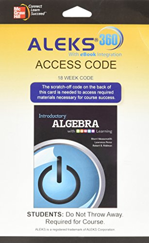 9780077894122: ALEKS 360 18 week access card for Introductory Algebra with P.O.W.E.R. Learning
